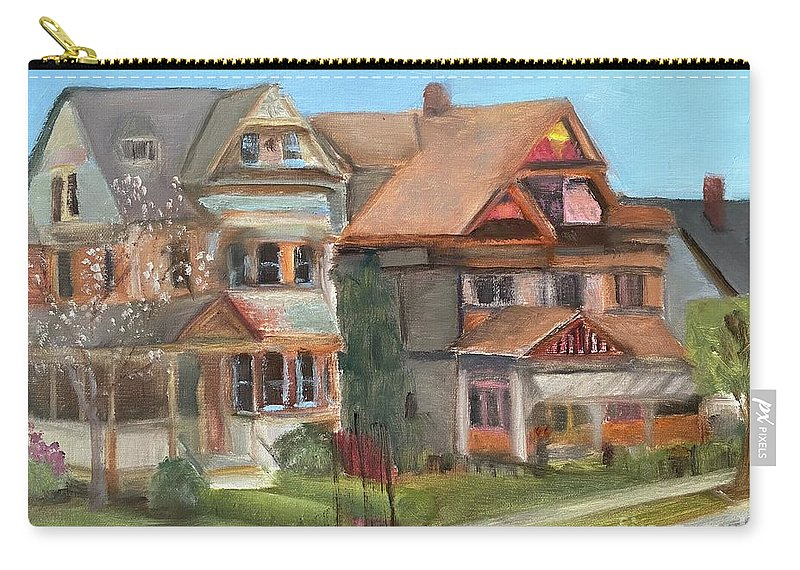 Stockton Street Carry-all Pouch featuring the painting Stockton Street by Sheila Mashaw