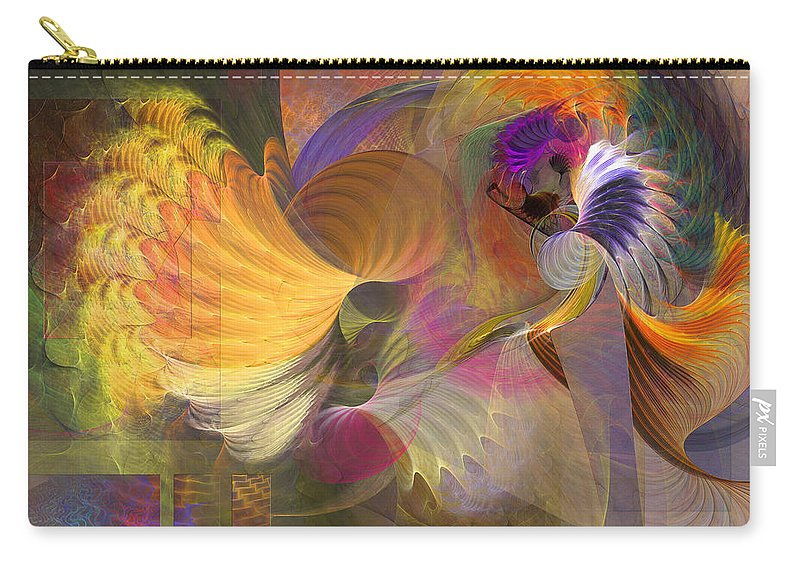 Storms On Sheridan Carry-all Pouch featuring the digital art Storms On Sheridan by John Robert Beck