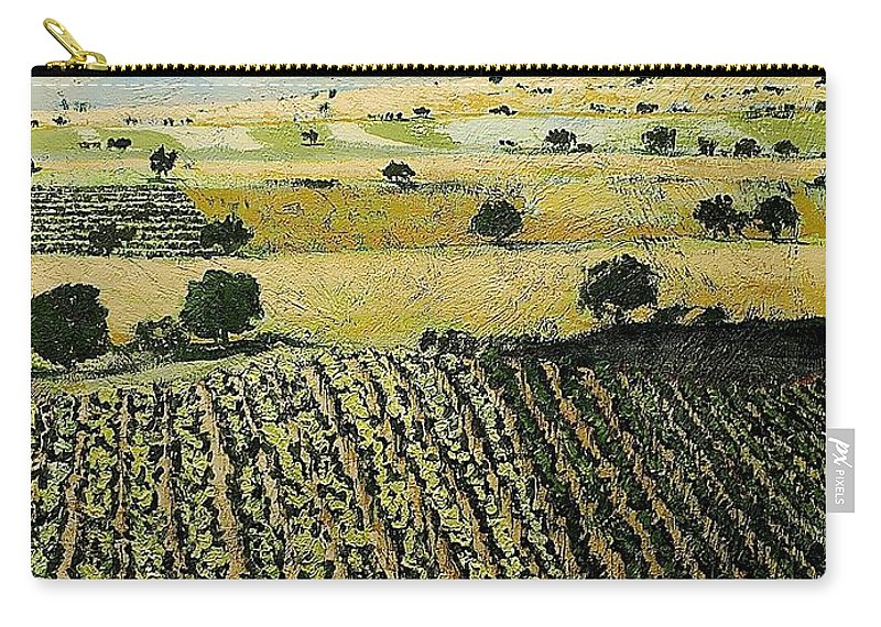 Landscape Carry-all Pouch featuring the painting Storms Over by Allan P Friedlander