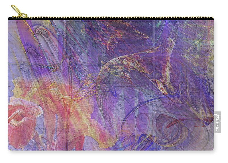Summer Awakes Carry-all Pouch featuring the digital art Summer Awakes by John Robert Beck
