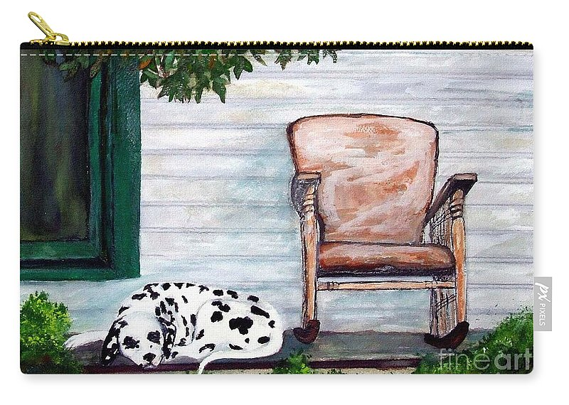 Dog Carry-all Pouch featuring the painting Summer Evening by Jacki McGovern