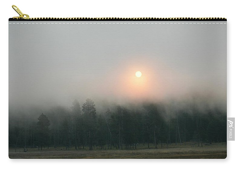 Sun Carry-all Pouch featuring the photograph Sun and Fog by Marilyn Hunt