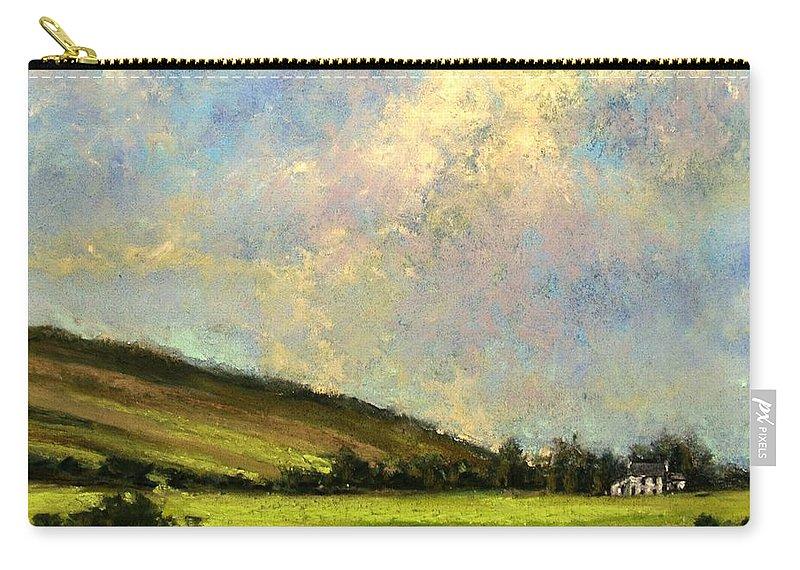 Irish Art Carry-all Pouch featuring the painting Sun Streak Ireland by Jim Gola