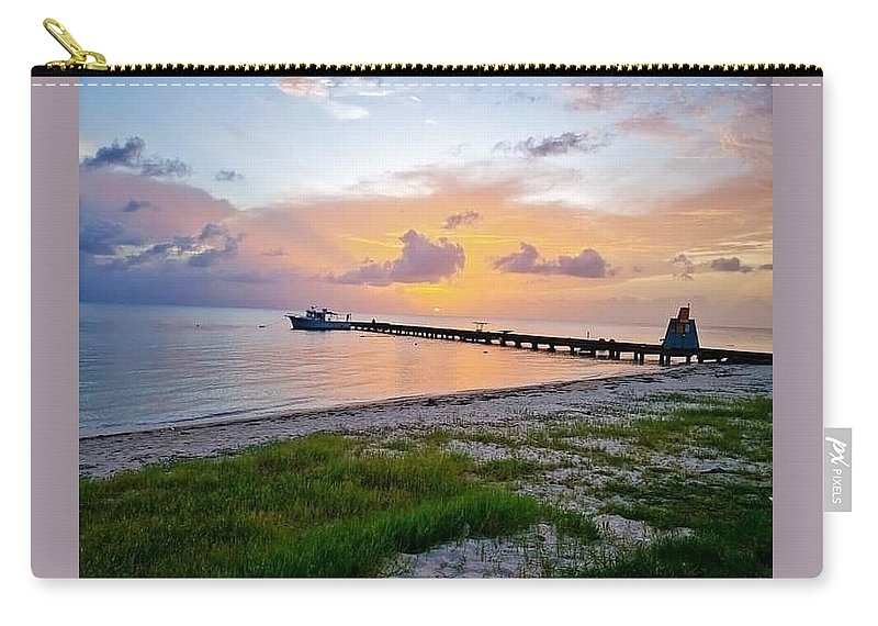Sunset Carry-all Pouch featuring the photograph Sunset at the beach by De Aventureo
