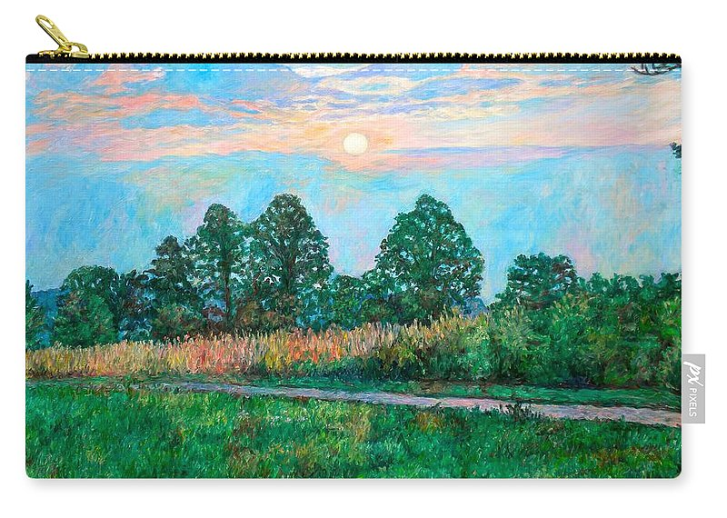 Kendall Kessler Carry-all Pouch featuring the painting Sunset Near Fancy Gap by Kendall Kessler