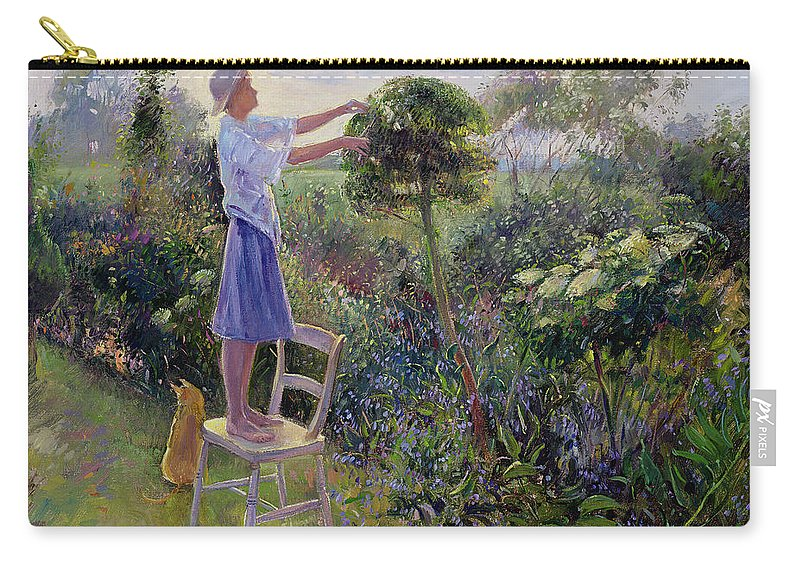 Sunset Carry-all Pouch featuring the painting Sunset Trim by Timothy Easton