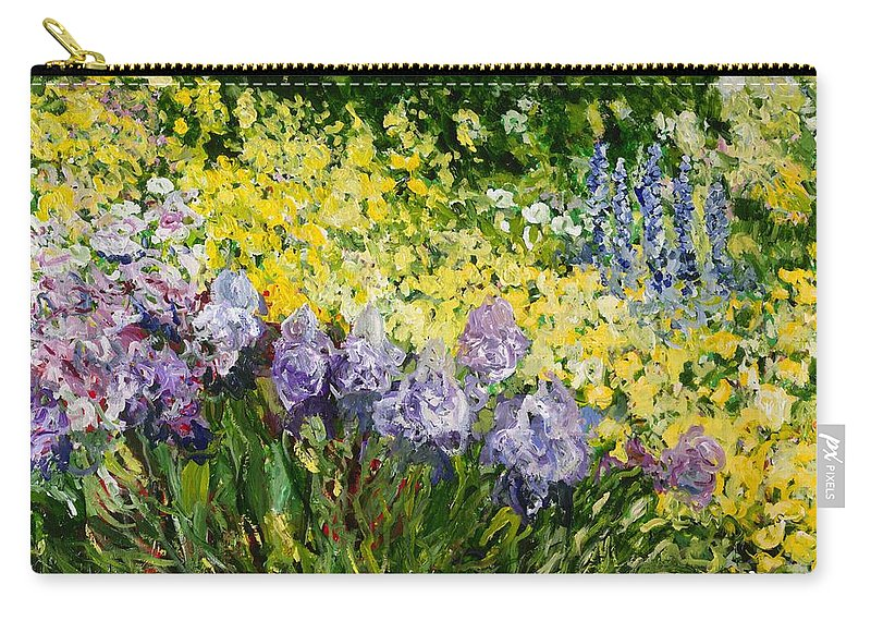 Landscape Carry-all Pouch featuring the painting Sunshine Blossoms by Allan P Friedlander