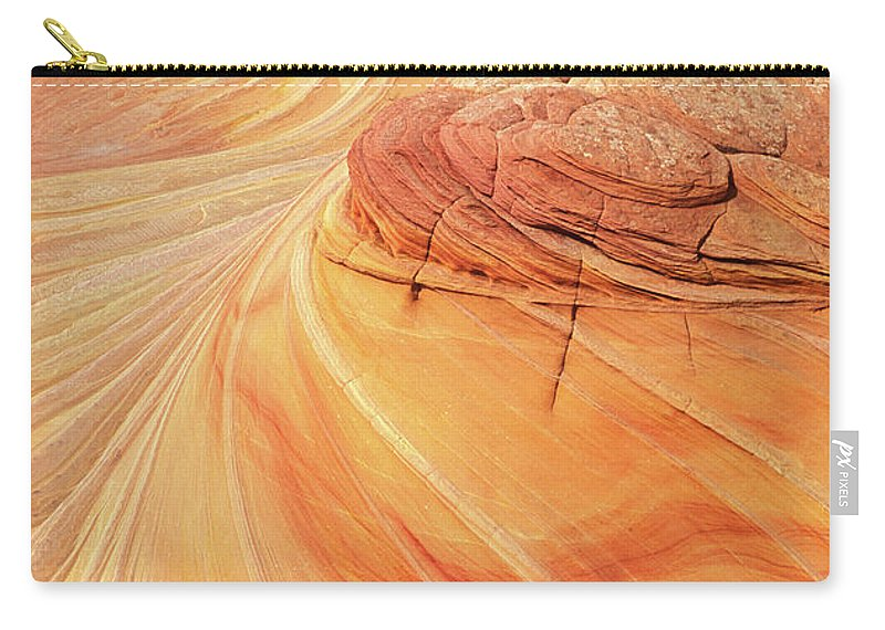 The Wave Carry-all Pouch featuring the photograph Swirls And Patterns Of Sandstone Fins In Coyote Butte, Arizona, Usa by Neale And Judith Clark