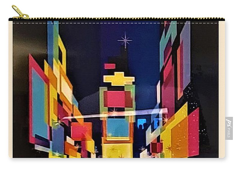 New York New York City Carry-all Pouch featuring the photograph T W A New York by Rob Hans