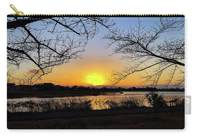 Sunset Carry-all Pouch featuring the photograph Tatebayashi Sunset by Kiyoto Matsumoto