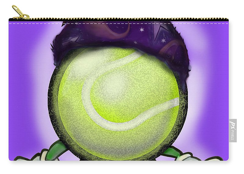 Tennis Carry-all Pouch featuring the digital art Tennis Wiz by Kevin Middleton