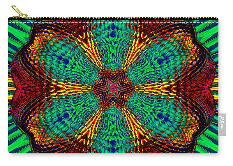 Carry-all Pouch featuring the digital art Tesla's Design by Steve Solomon