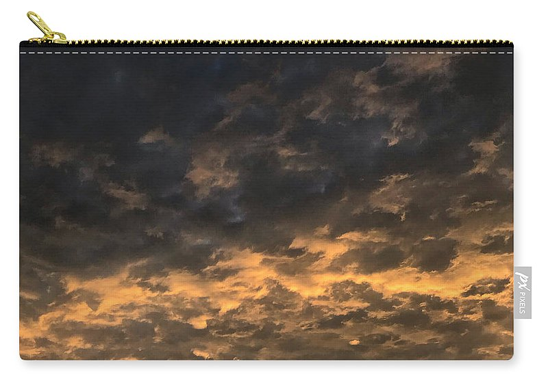 Carry-all Pouch featuring the photograph Texas Storm Clouds by Jose Machin