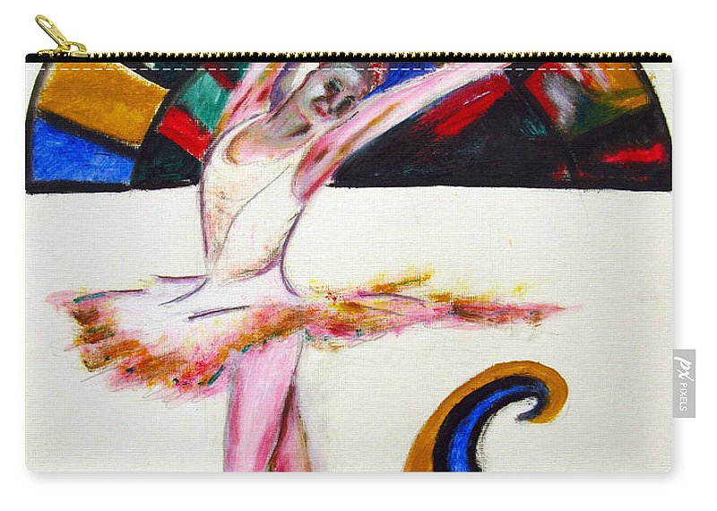 Female Carry-all Pouch featuring the painting The Ballerina by Tom Conway