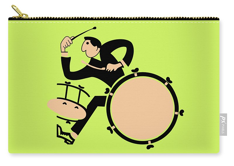 Drum Carry-all Pouch featuring the photograph The Drummer by Mark Rogan
