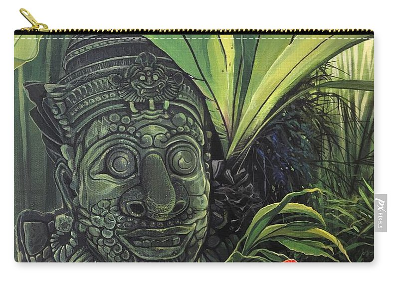 Statue Carry-all Pouch featuring the painting The Fallen Idol by Hunter Jay