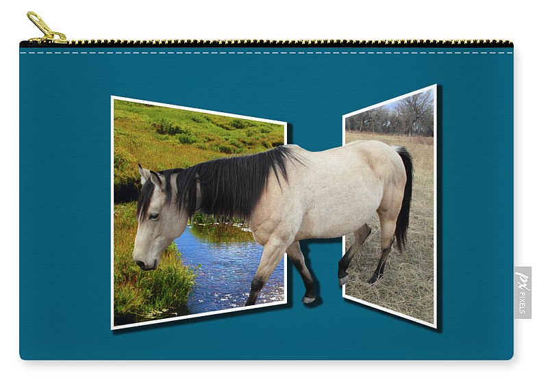 Horse Carry-all Pouch featuring the photograph The Grass Is Always Greener On The Other Side by Shane Bechler