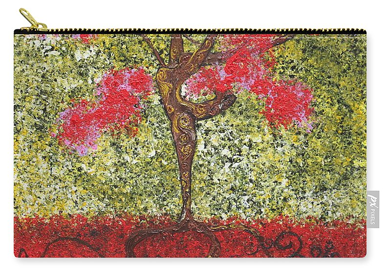 Dancer Carry-all Pouch featuring the painting The Lady Tree Dancer by Stefan Duncan