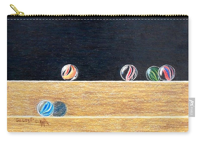 Still Life Carry-all Pouch featuring the painting The Lost by A Robert Malcom