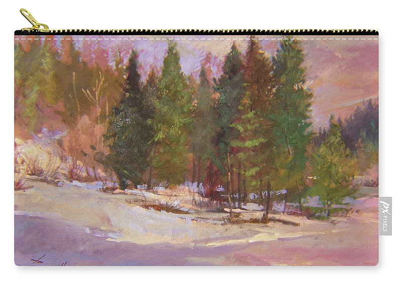 Plein Air Painting Carry-all Pouch featuring the painting The Road Home Plein Air by Betty Jean Billups