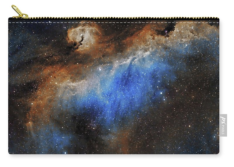 Astronomy Carry-all Pouch featuring the photograph The Seagull Nebula by Prabhu Astrophotography