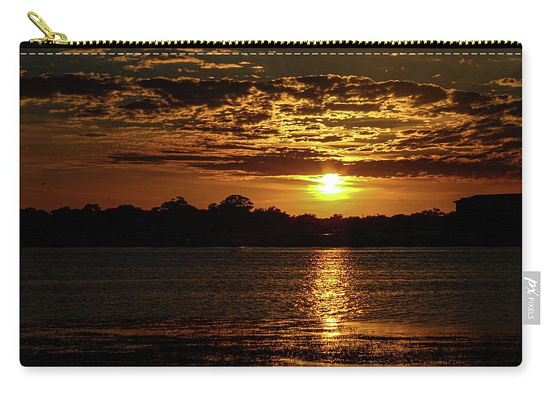 Sunset Carry-all Pouch featuring the photograph The Sunset over the Lake by Daniel Cornell