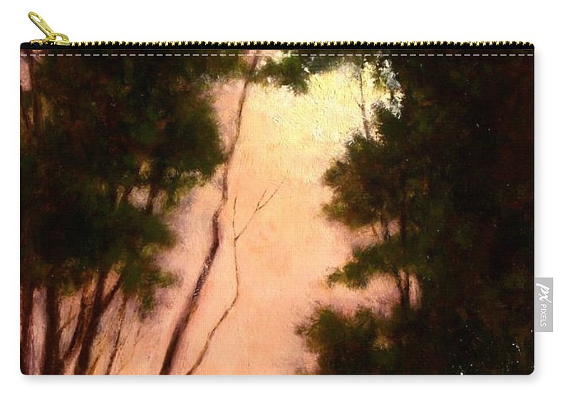 Landscape. Oil Painting Carry-all Pouch featuring the painting The Walk Home by Jim Gola