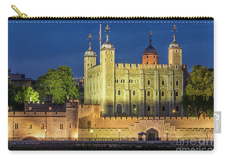 Castle Carry-all Pouch featuring the photograph The White Tower, Tower Of London by Neale And Judith Clark