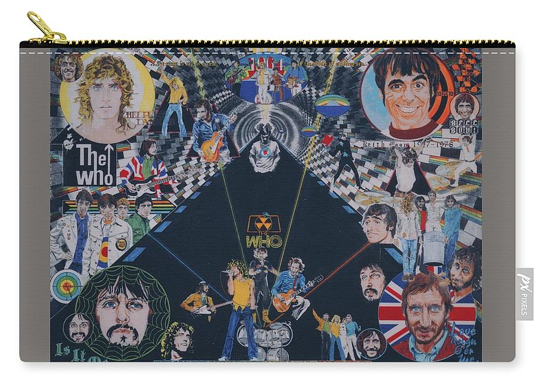 Montage Carry-all Pouch featuring the drawing The Who - Quadrophenia by Sean Connolly