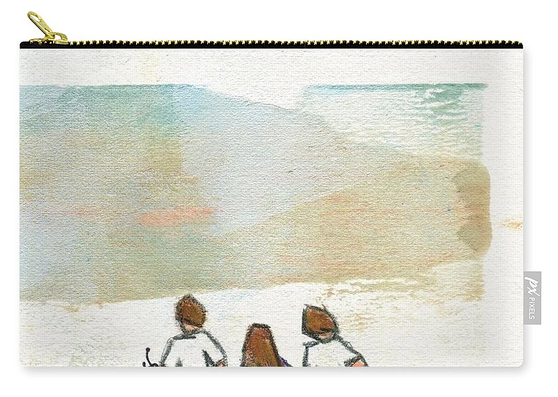 Beach Carry-all Pouch featuring the painting Three Views by Hew Wilson