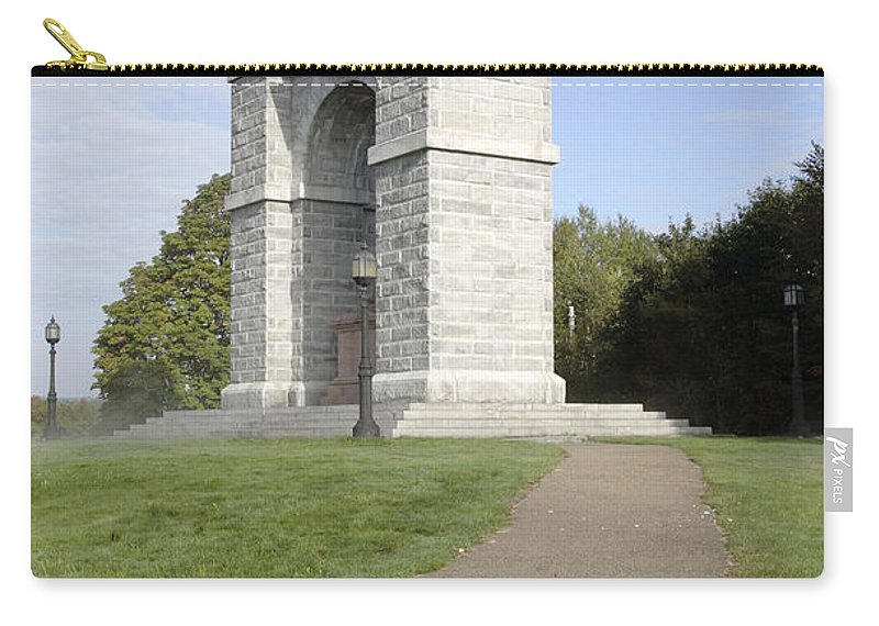 Landscape Carry-all Pouch featuring the photograph Titus Arch Replica - Northfield NNew Hampshire by Erin Paul Donovan