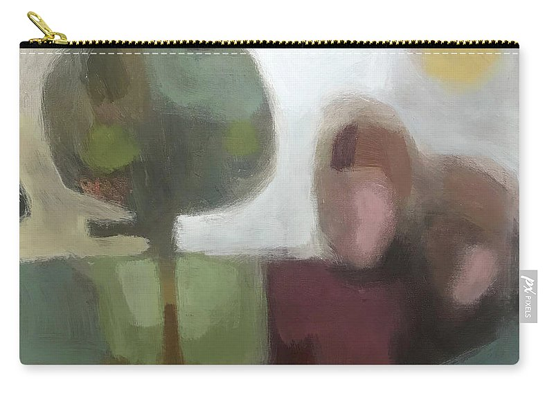 Landscape Carry-all Pouch featuring the painting Together by Farhan Abouassali
