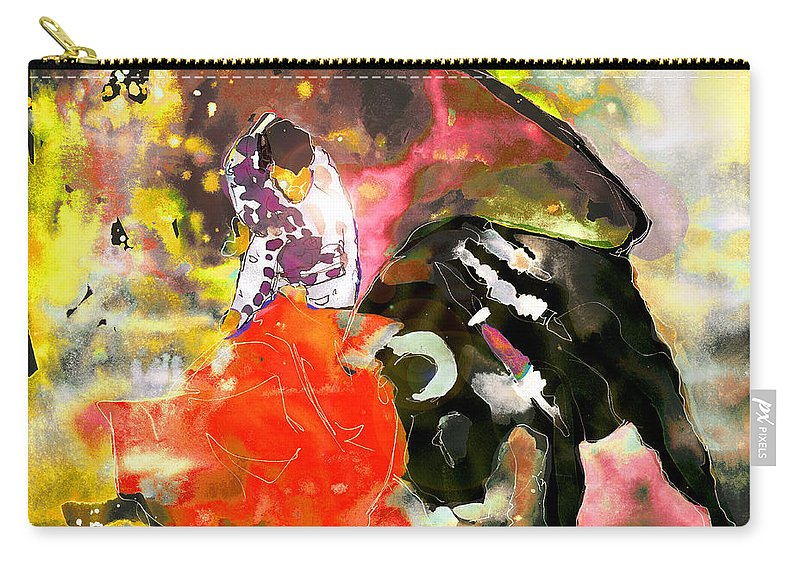 Animals Carry-all Pouch featuring the painting Toroscape 08 by Miki De Goodaboom