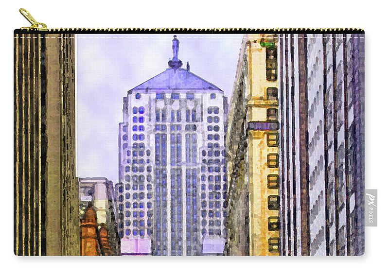 Trading Places Carry-all Pouch featuring the digital art Trading Places by John Robert Beck