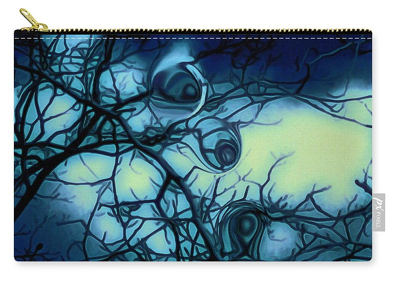 Trees Carry-all Pouch featuring the photograph Trees have eyes by Linda Sannuti