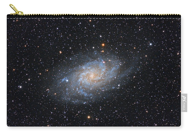 Galaxy Carry-all Pouch featuring the photograph Triangulum Galaxy by Prabhu Astrophotography