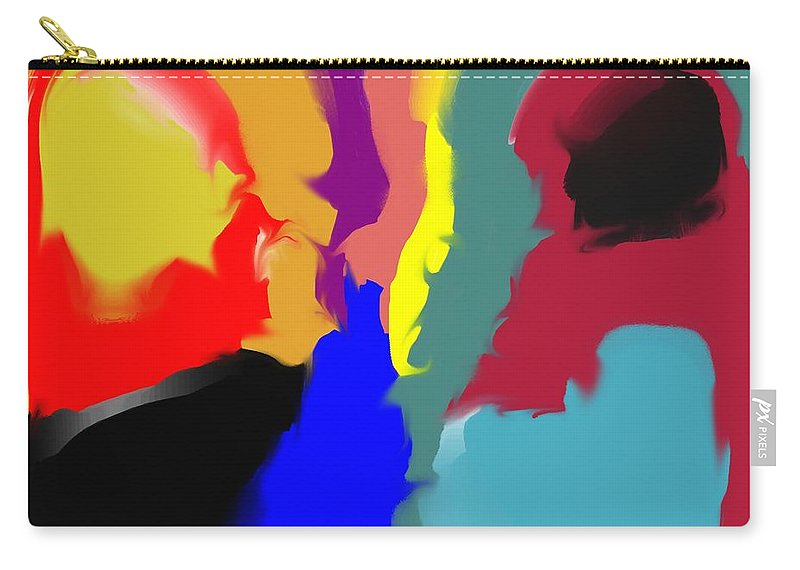 Abstract Carry-all Pouch featuring the digital art Two Peas in a Pod by Pharris Art