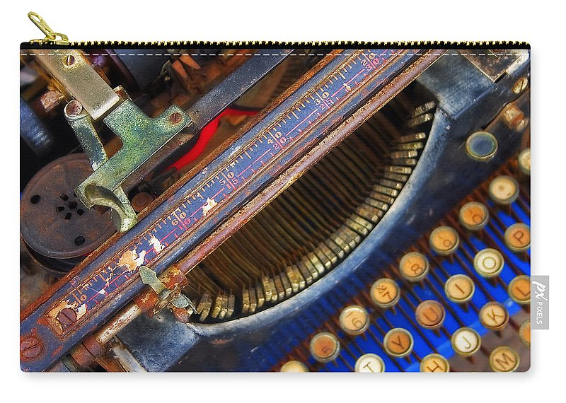 Typewriter Carry-all Pouch featuring the photograph Typewriter by Skip Hunt