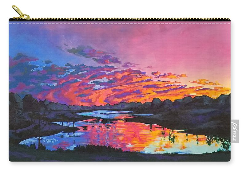 Houston Carry-all Pouch featuring the painting Until Tomorrow by Allison Fox