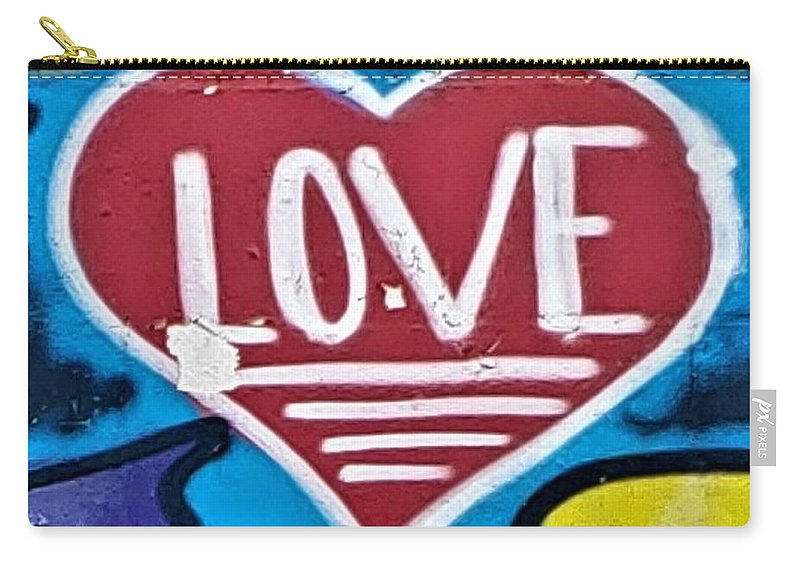 Love Carry-all Pouch featuring the photograph Urban Love Heart by Rob Hans