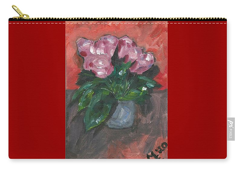 Rose Carry-all Pouch featuring the painting Vase of Roses by Monica Resinger