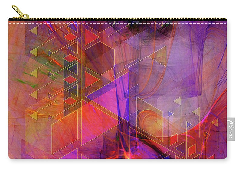 Vibrant Echoes Carry-all Pouch featuring the digital art Vibrant Echoes by John Robert Beck