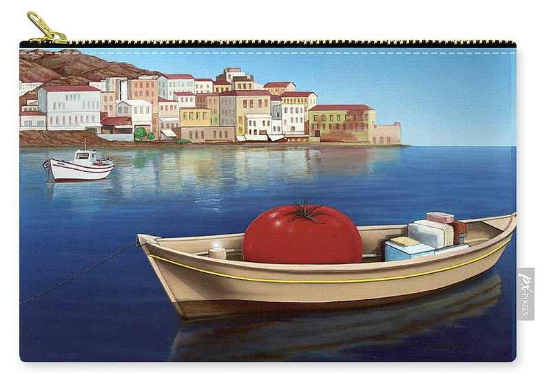 Mediterranean Carry-all Pouch featuring the painting Vine Ripened by Snake Jagger