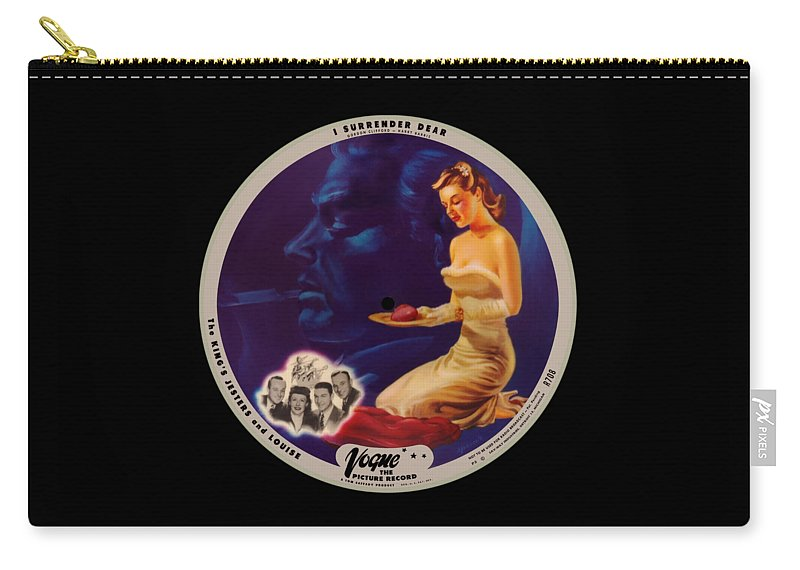 Vogue Picture Record Carry-all Pouch featuring the digital art Vogue Record Art - R 708 - P 3 - Square Version by John Robert Beck