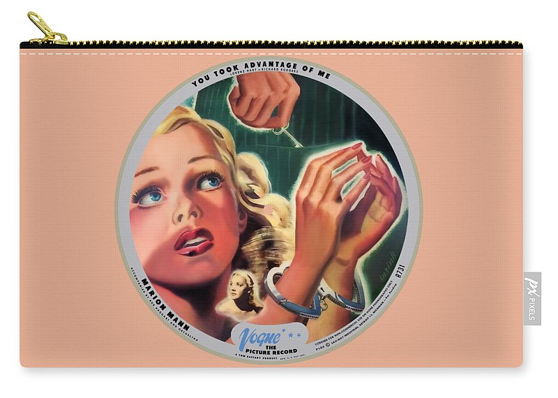 Vogue Picture Record Carry-all Pouch featuring the digital art Vogue Record Art - R 731 - P 105 - Square Version by John Robert Beck