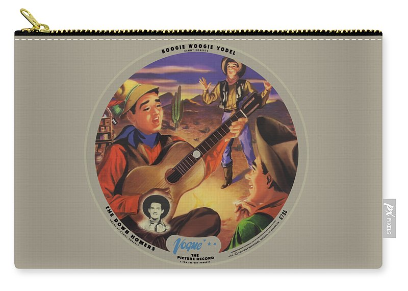 Vogue Picture Record Carry-all Pouch featuring the digital art Vogue Record Art - R 786 - P 52 - Square Version by John Robert Beck