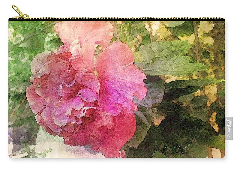 Waiting For You Carry-all Pouch featuring the digital art Waiting For You by James Temple
