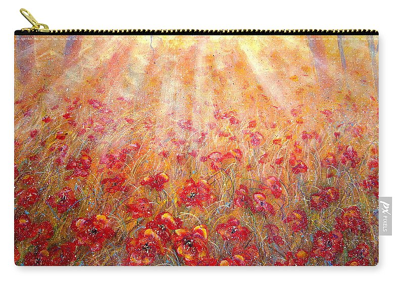 Landscape Carry-all Pouch featuring the painting Warm Sun Rays by Natalie Holland