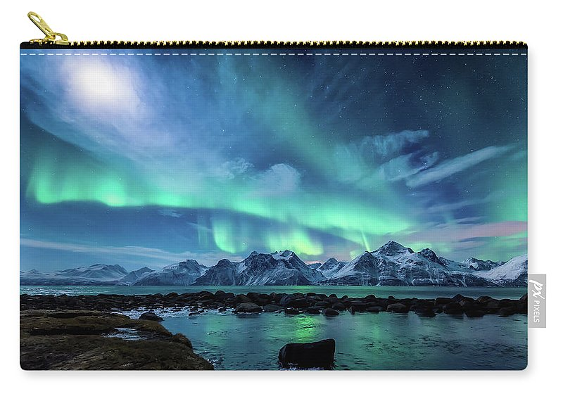 Moon Carry-all Pouch featuring the photograph When The Moon Shines by Tor-Ivar Naess