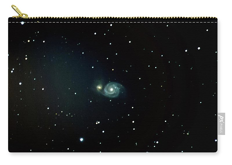 Astrophotography Carry-all Pouch featuring the photograph Whirlpool Galaxy / M51 by Nunzio Mannino